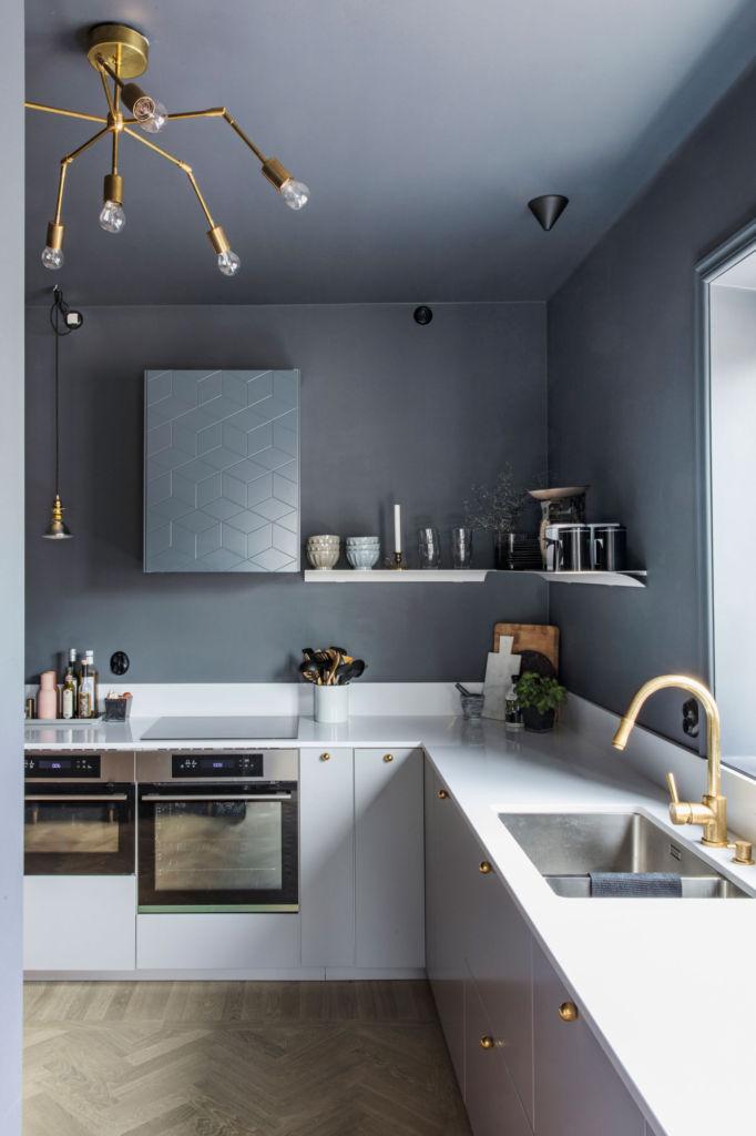 кухня бетон темный