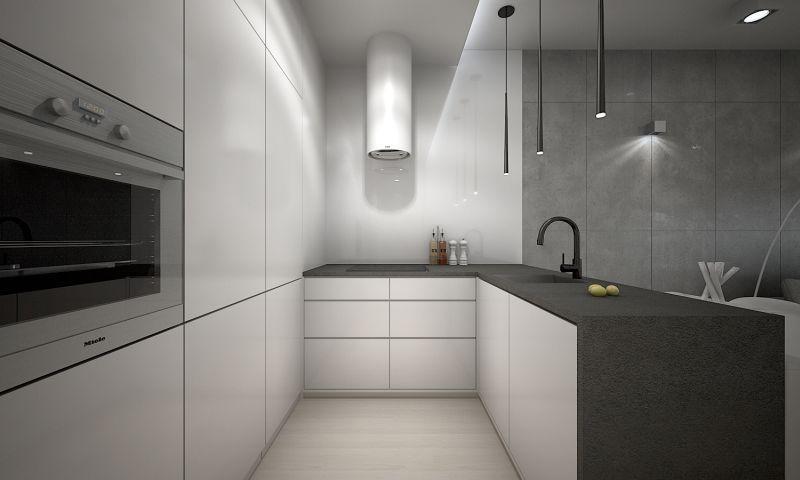 кухня бетон в интерьере
