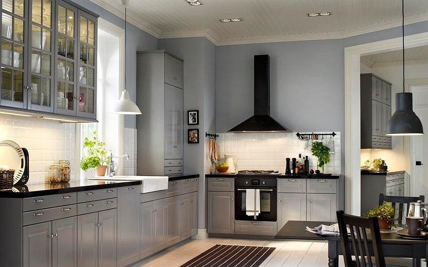 кухни бело серые в современном стиле