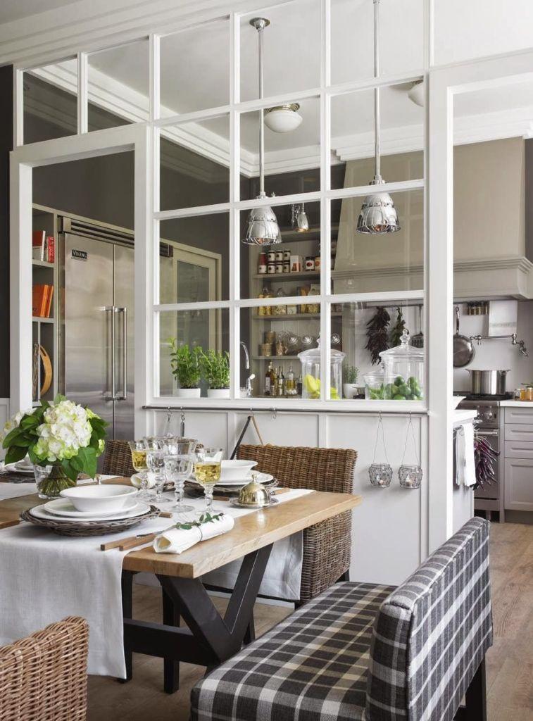 кухня отделенная от гостиной