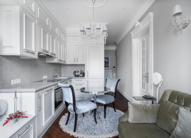 отделить кухню от гостиной фото