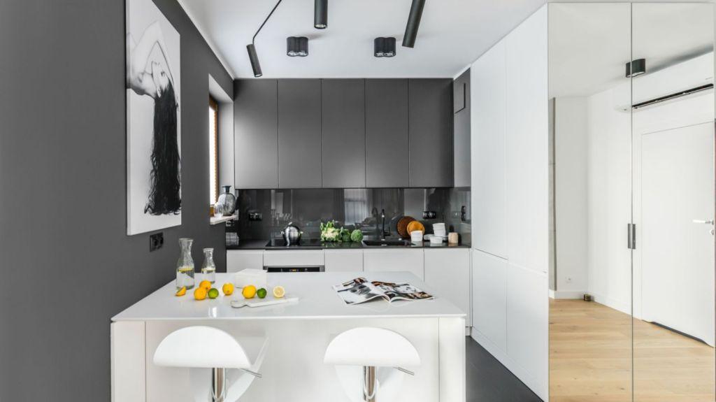кухня минимализм небольшая