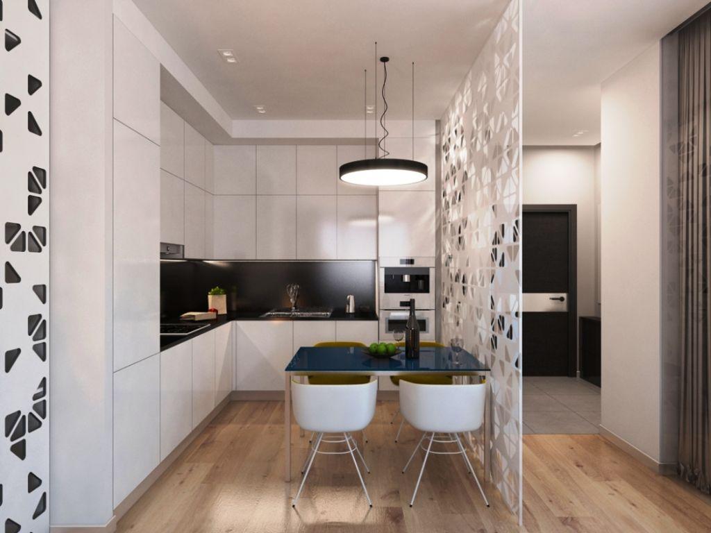 кухня гостиная отделенная перегородкой
