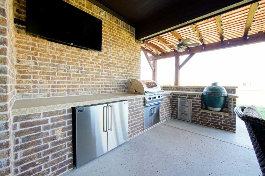 летняя кухня с террасой