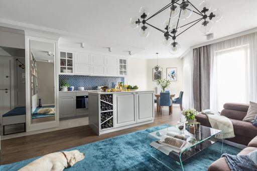 современный интерьер кухни гостиной