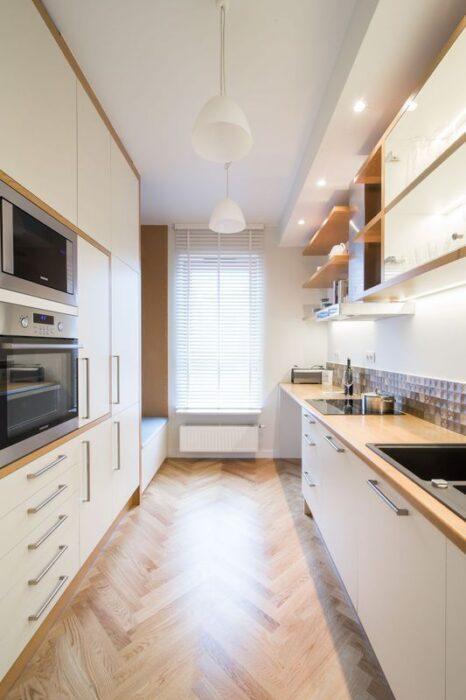 кухня плитка паркет фото