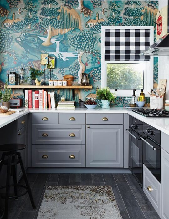 идеи обоев для кухни