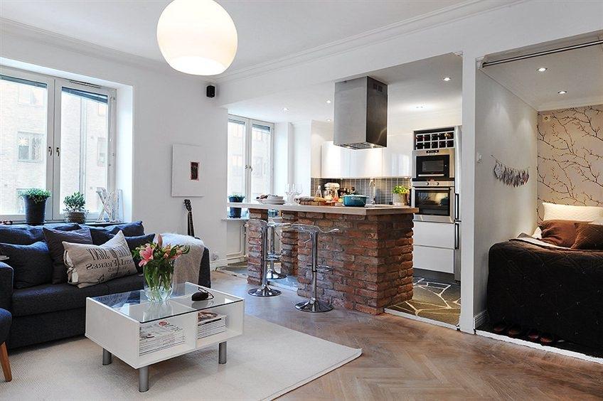 кухня с двумя окнами фото
