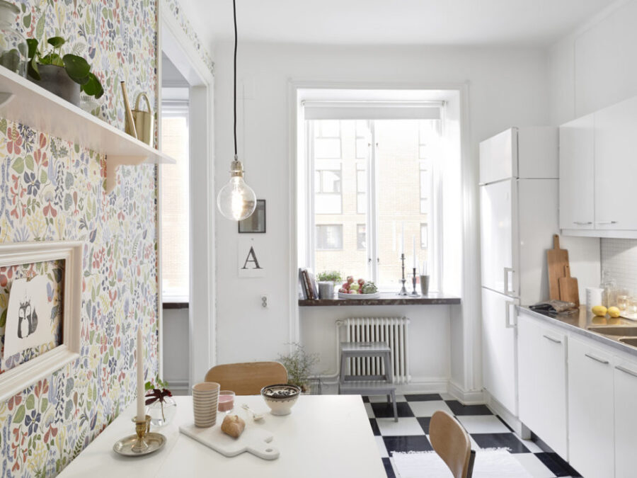 кухня серого цвета какие обои выбрать