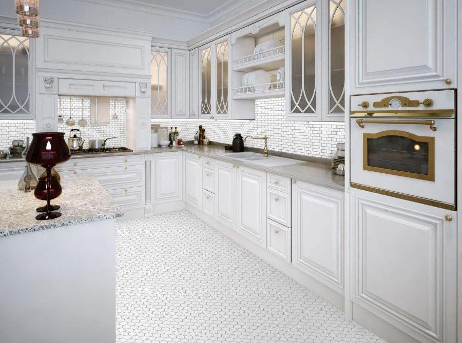 пол на кухне под плитку