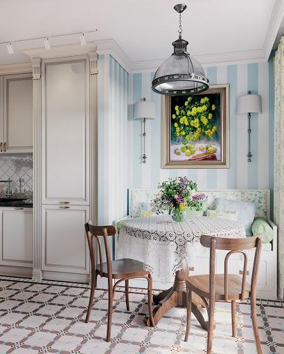 кухни в стиле прованс в частном доме