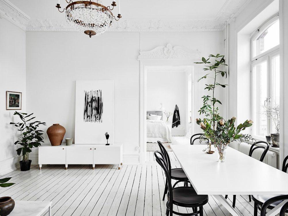 скандинавская кухня столовая