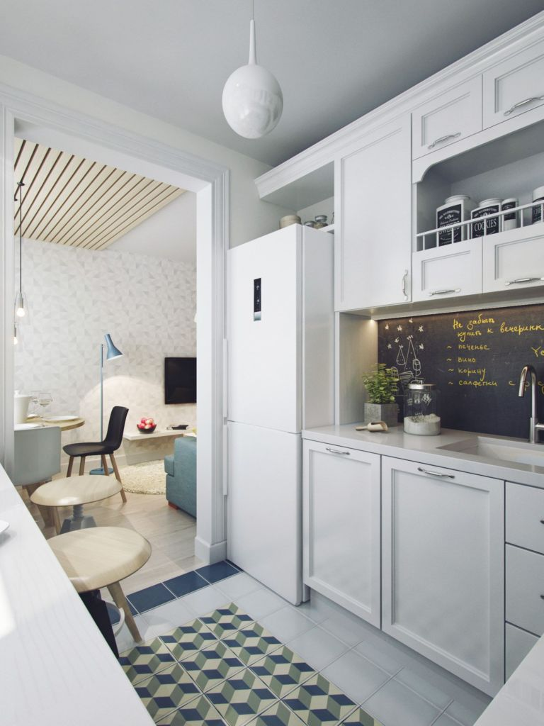 оформление кухни без двери
