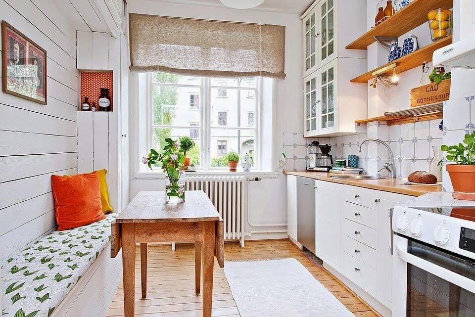 скамья для кухни со спинкой