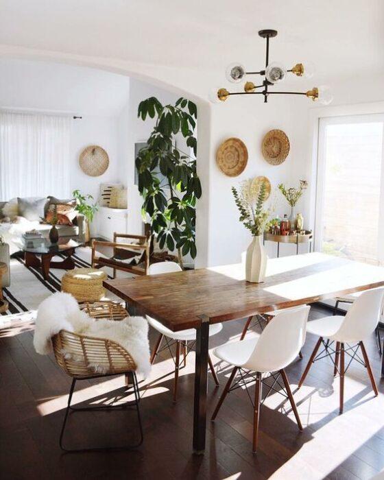 столовая группа для кухни в скандинавском стиле