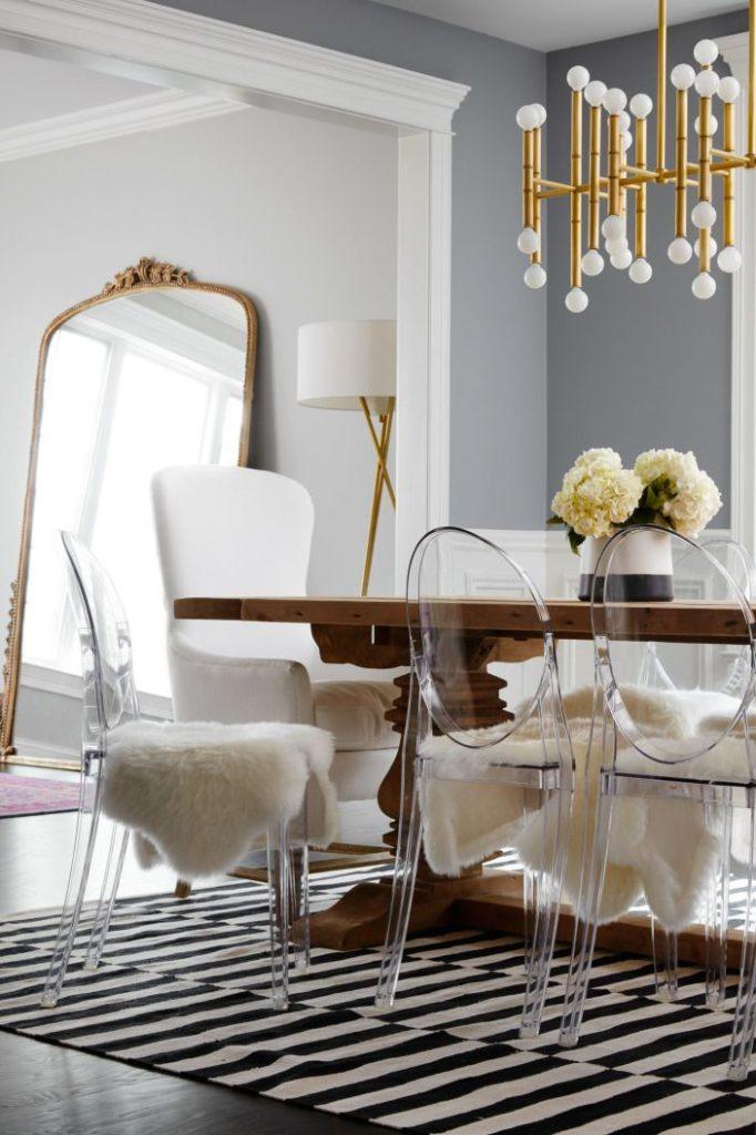 прозрачные кухонные стулья