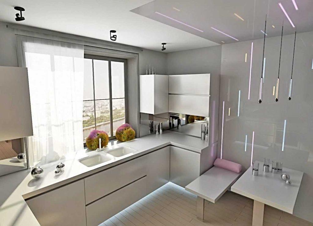 кухня глянцевая модерн