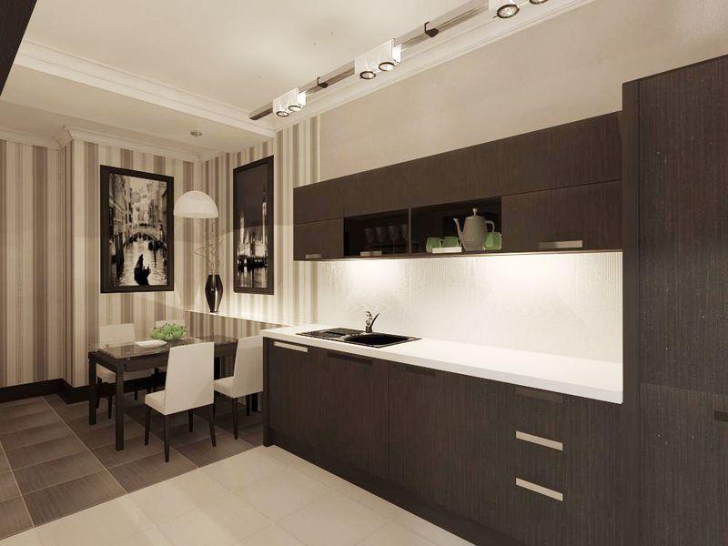 светло коричневая кухня кухня темно коричневая