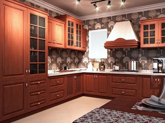 светло коричневая кухня