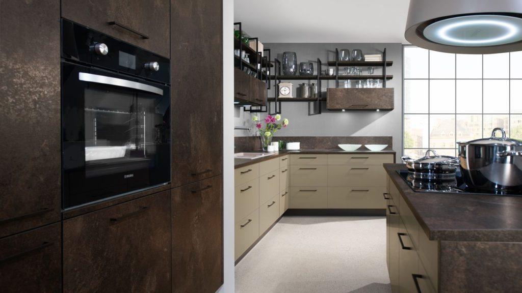 кухня темно коричневая