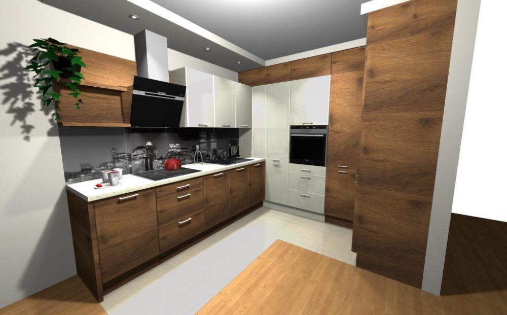 коричневый фасад кухни