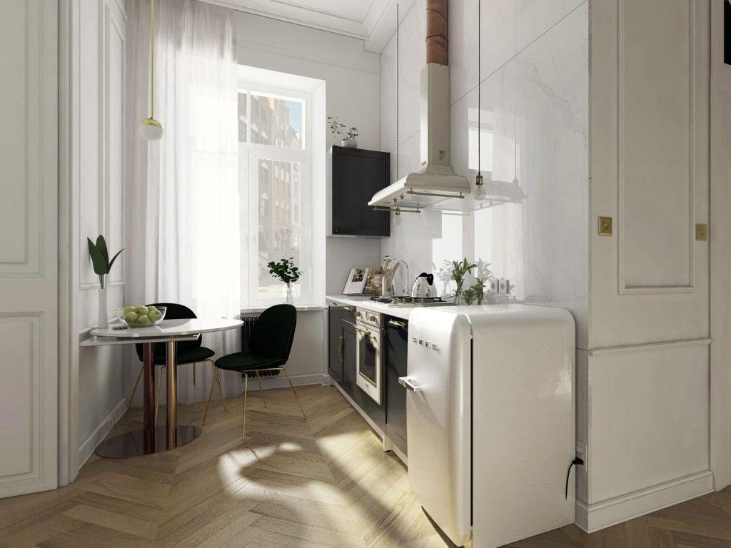 дизайн кухни прихожей