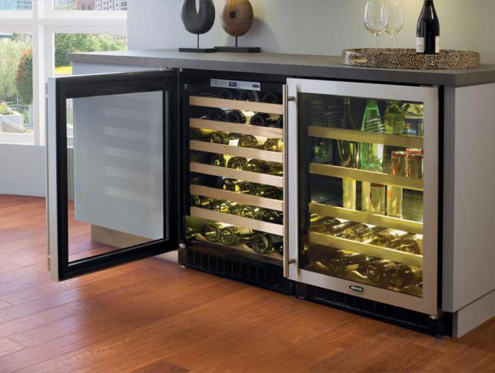 встроенный винный холодильник под столешницу