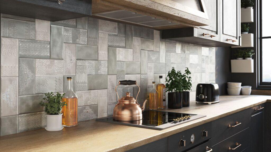 кухонный фартук +из плитки