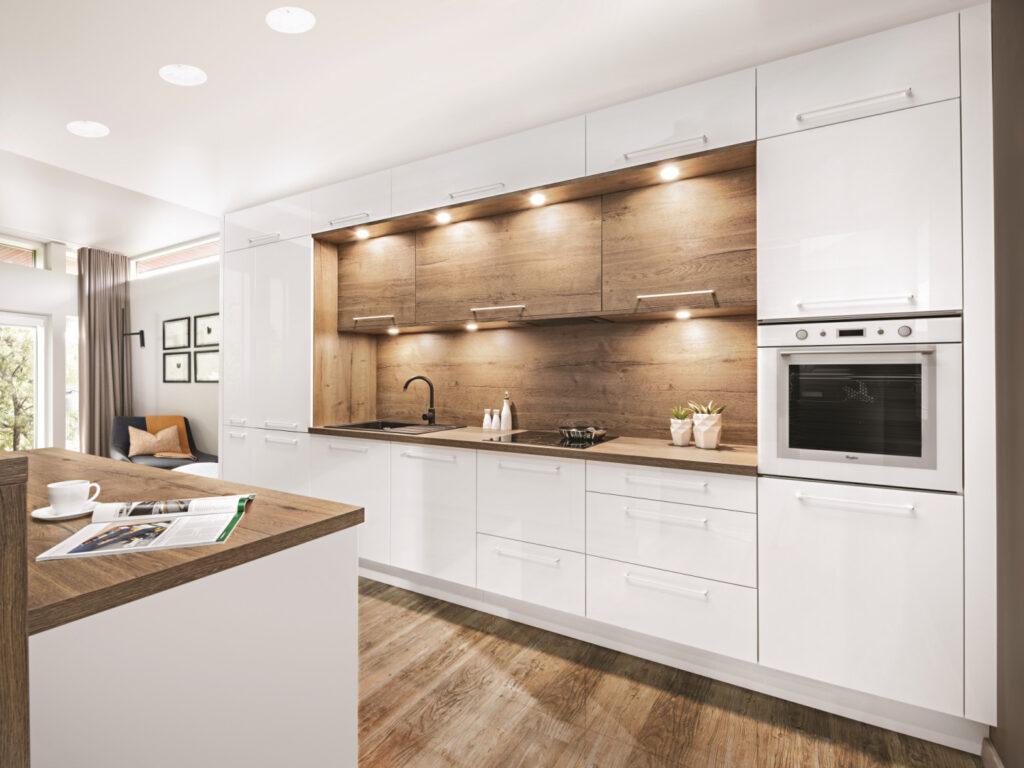 модная светлая кухня  модные угловые кухни фото