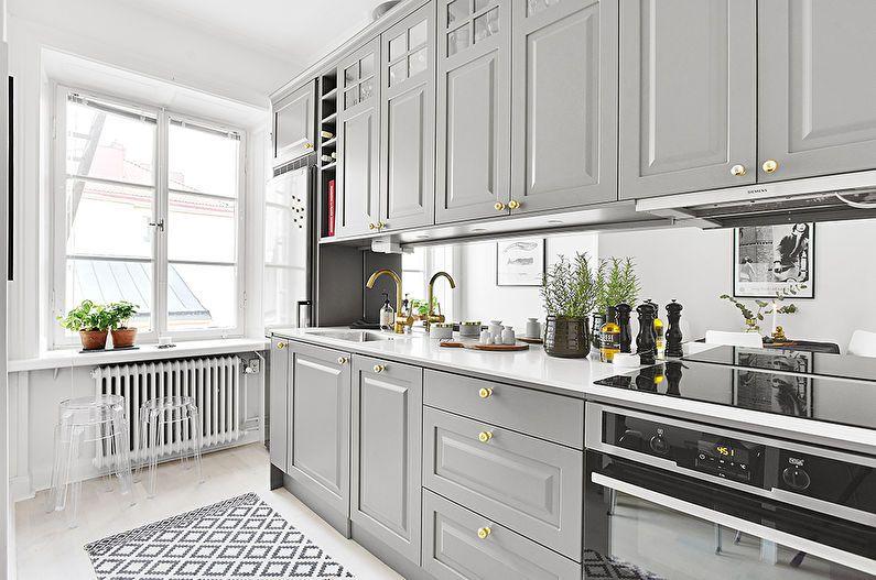 кухня серого цвета в интерьере
