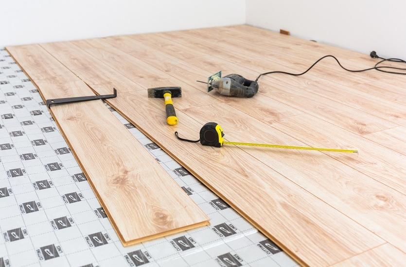 подложка ламинат бетонный пол