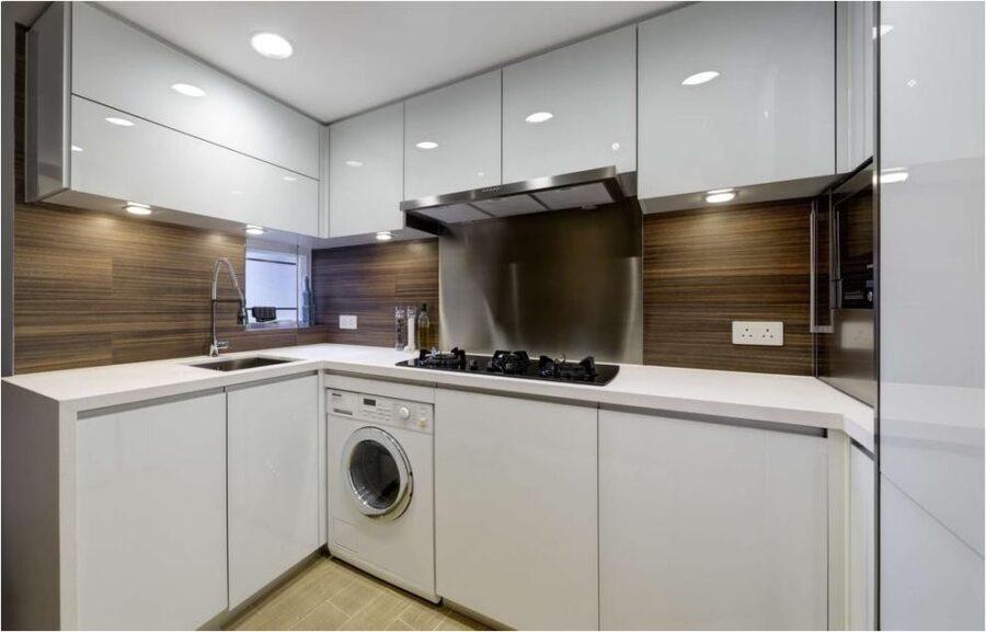 кухни хрущевка с холодильником и стиральной машиной