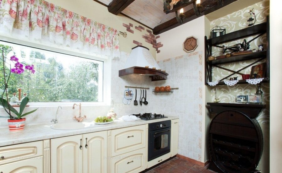 кухня прованс зеленая