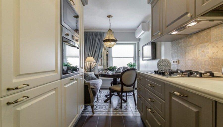 фото квадратных кухонь