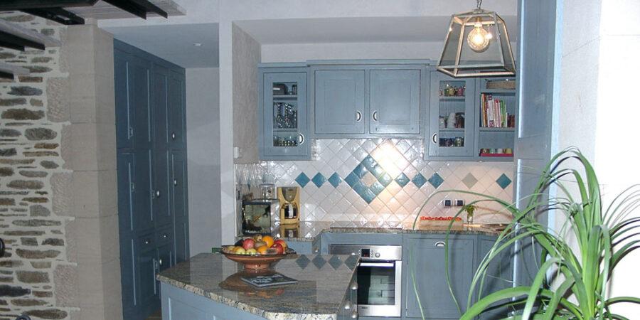 кухня прованс синяя