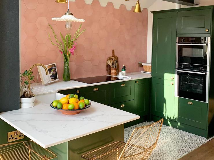 сочетание зеленой кухни