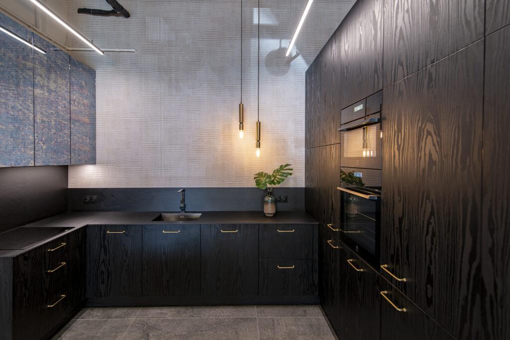 черные кухни фото дизайн