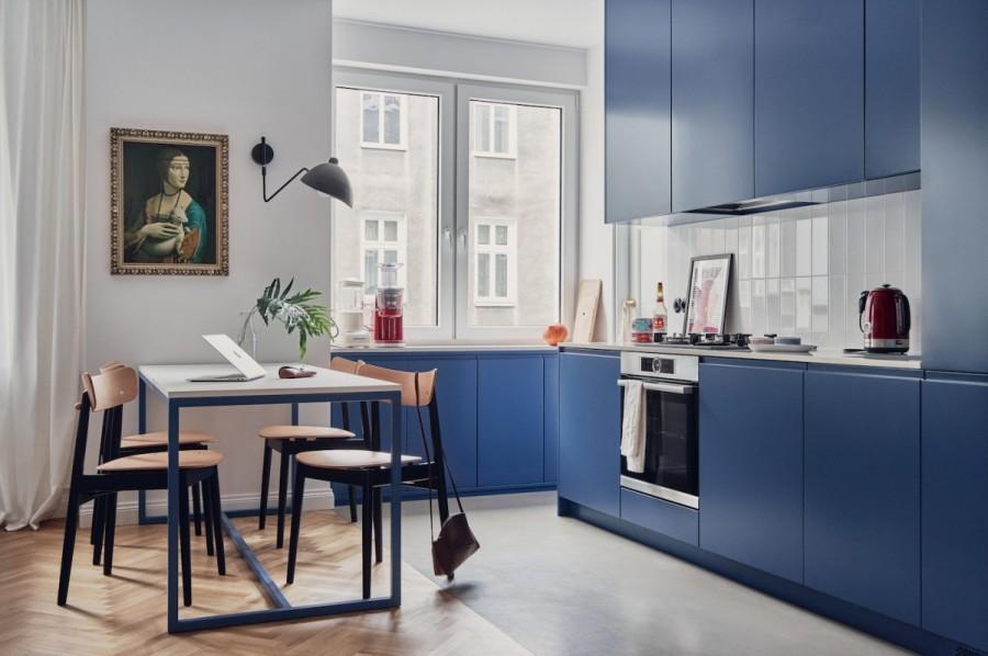 синие кухни лорето