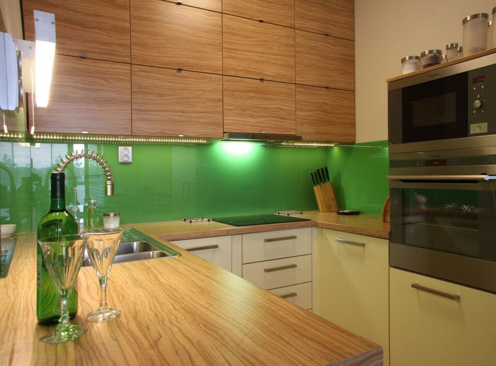 кухня будбин зеленая