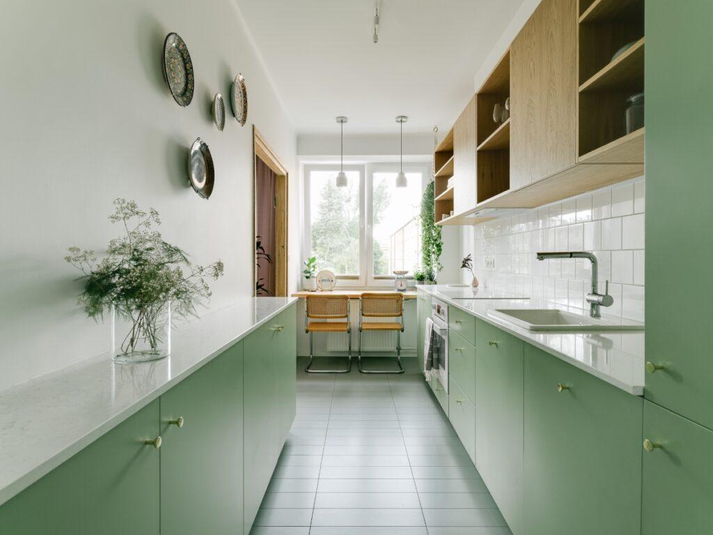 кухня икеа зеленая