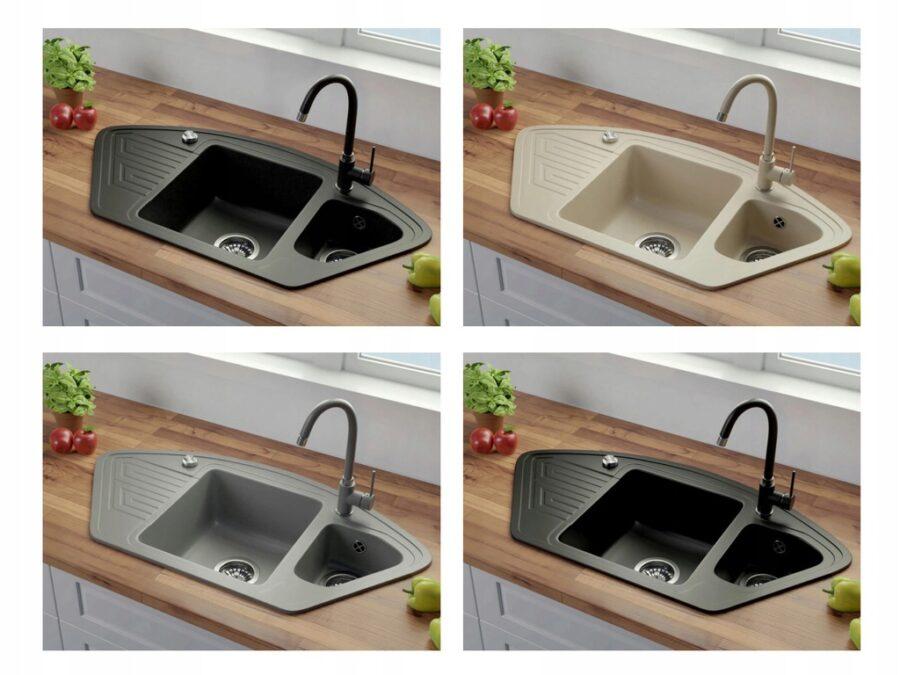 угловые кухонные мойки