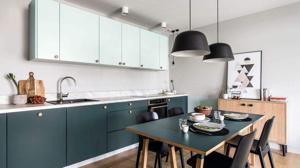 кухни модные цвета фото